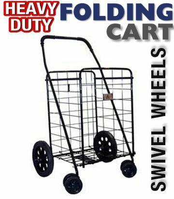 Heavy duty shopping cart folding grocery laundry swivel for Does walmart sell fishing license