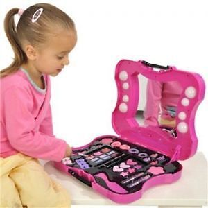 Hello Kitty Cosmetic Vanity Case Make Up Set 8 Lights Ebay