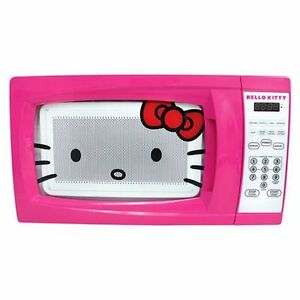 Hello Kitty Countertop Microwave Pink 7 CuFt for Kitchen or Dorm ...