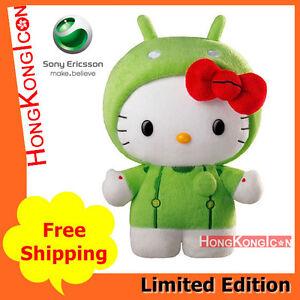 Ericsson HK 2011 Limited Android Kitty Ki Beta Plush Doll Green   eBay