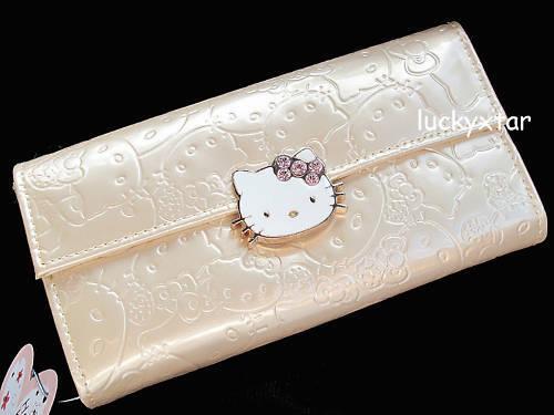 Hello Kitty gold card holder purse wallet