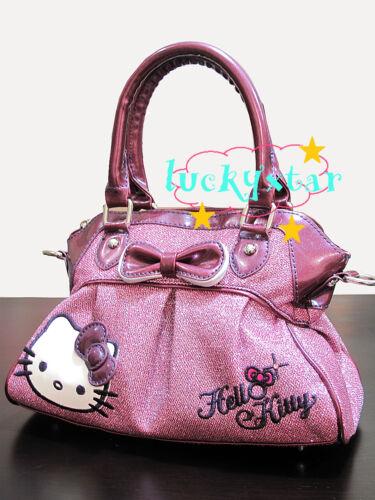 Hello Kitty shiny purple tote / shoulder bag purse