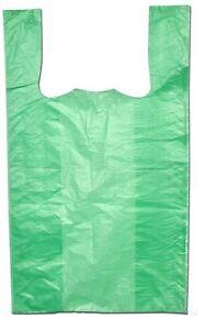 Hemdchentragetaschen-Plastiktueten-Tragetaschen-Tueten-30-16-x-52-cm-Gruen