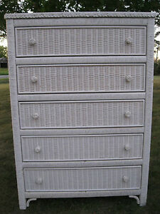Wicker Bedroom Furniture on Henry Link White Wicker Bedroom Furniture   Ebay