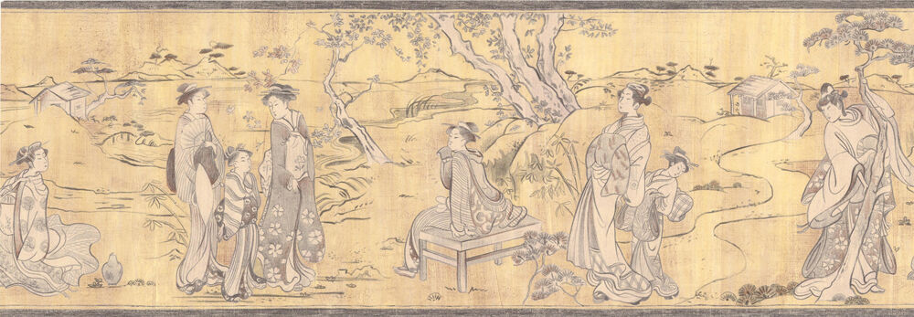 Hermitage 7 Asia World Satin Borte 6835-26 sand gelb