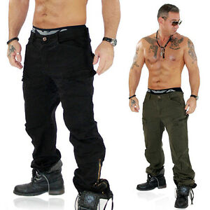 herren cargo hose cargohose milit r army style khaki schwarz 012 ebay. Black Bedroom Furniture Sets. Home Design Ideas