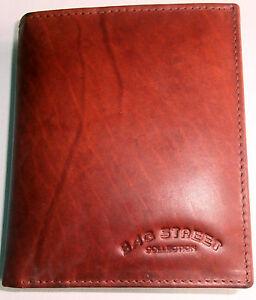 Herren-Geldbeutel-Portemonnaie-Braun-Echt-Leder-Geldboerse-Brieftasche-Brauntoene