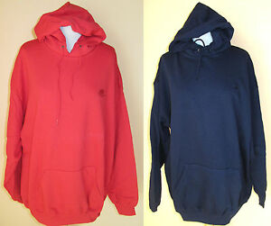 Herren-Kapuzen-Sweatshirt-Sweat-Shirt-Fruit-of-the-Loom-rot-dunkelblau-Gr-XXL