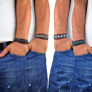 herren lederarmband farbe w hlbar m nner armband menq ebay. Black Bedroom Furniture Sets. Home Design Ideas