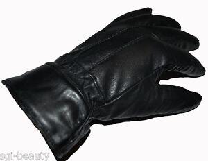 Herren-Lederhandschuhe-Leder-Handschuhe-100-Leder-Schwarz-NEU-und-verpackt
