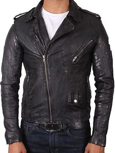 herren lederjacke krokodileffekt leder biker jacke kragen neu mit. Black Bedroom Furniture Sets. Home Design Ideas