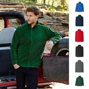 Herren-Pullover-Fleece-Jacket-Fleccejacke-Fruit-of-the-loom-Outdoor-Fleece-Jacke
