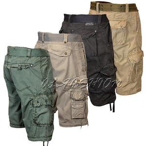 herren steel style bermuda vintage kurze hose cargo shorts. Black Bedroom Furniture Sets. Home Design Ideas
