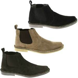 herren stiefel roamers wildleder chelsea boots 39 5 47 m765 kd. Black Bedroom Furniture Sets. Home Design Ideas
