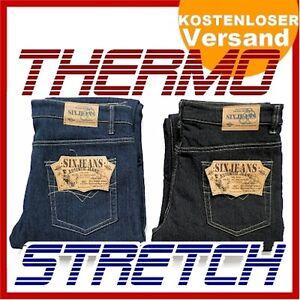 herren thermo jeans hose stretch 5 pocket gr w32 w48 mit fleece gef ttert ebay. Black Bedroom Furniture Sets. Home Design Ideas