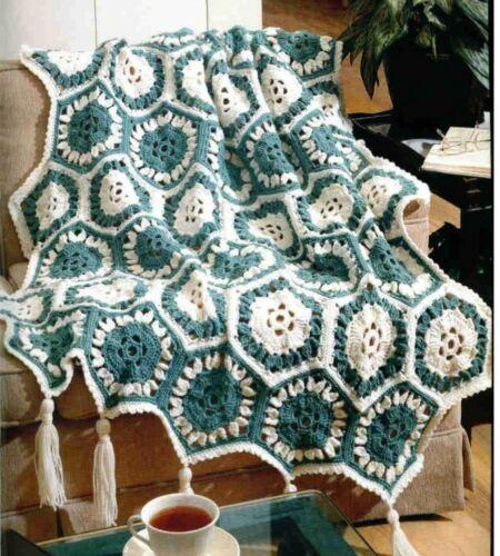 Crochet Patterns Ebay : Crochet Pattern Afghan Blanket Throw Sea Breeze eBay
