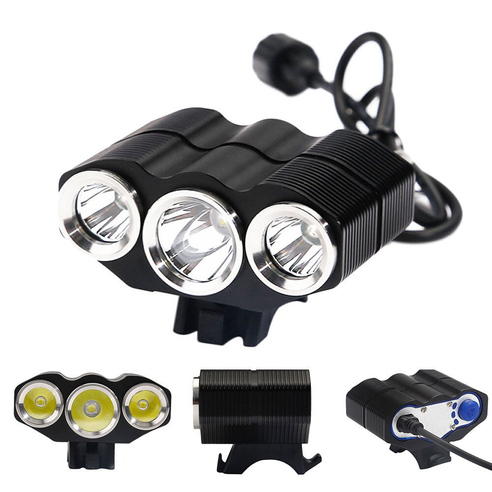high power led fahrradlampe 3x cree xm l scheinwerfer. Black Bedroom Furniture Sets. Home Design Ideas