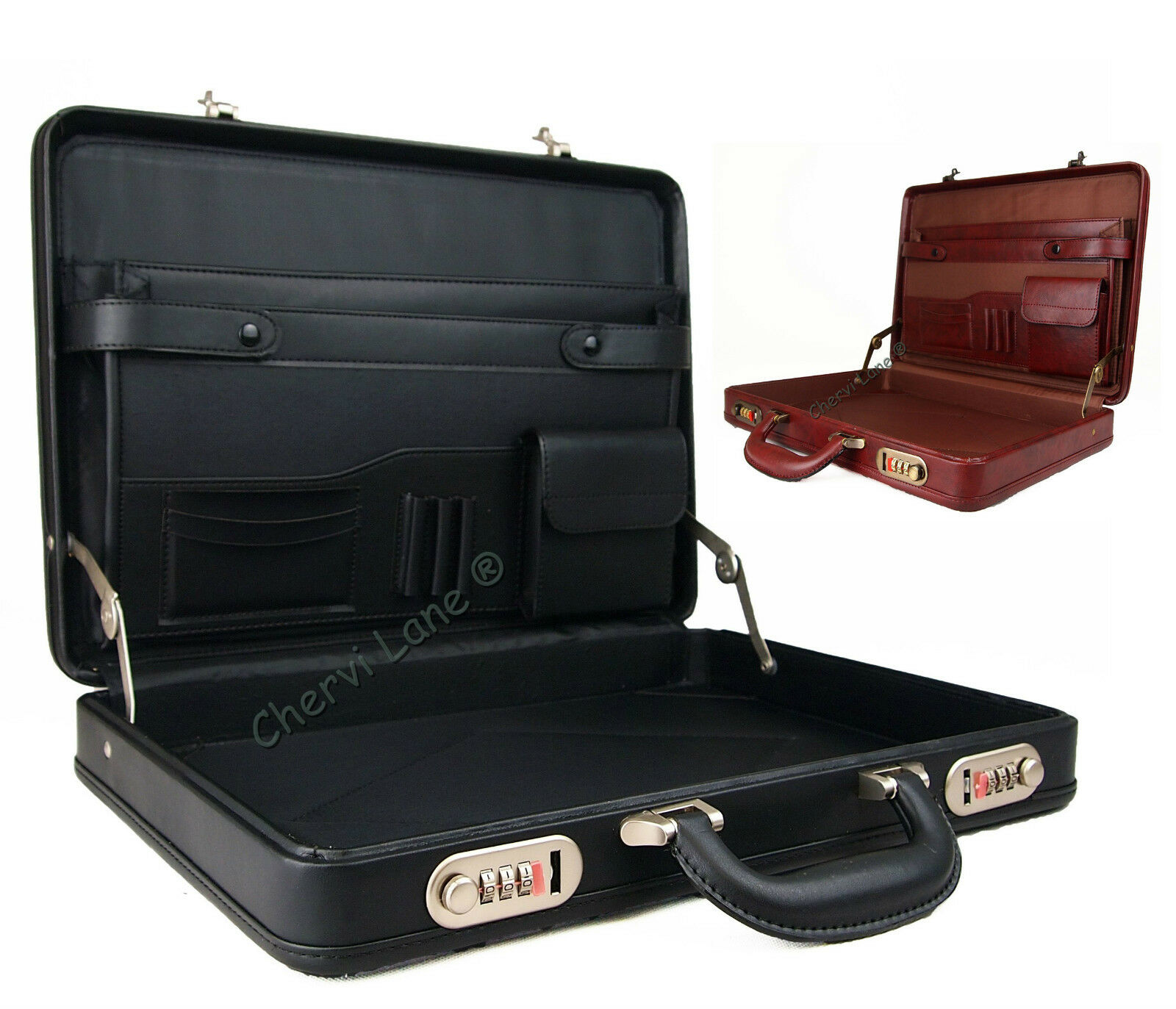 high quality slimline briefcase attache executive bag work business