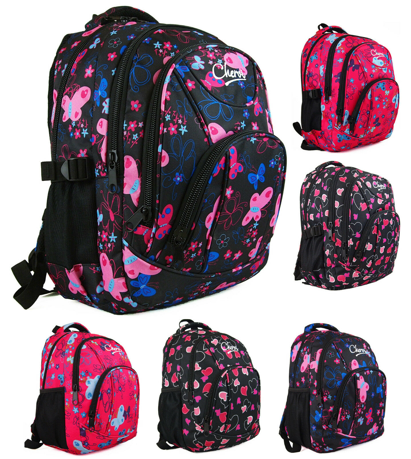 Cute school bags for college students - Girls Chervi Hand Luggage School Cabin Backpack Rucksack Bag Ebay