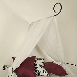 himmelbett set halter 80cm baldachin himmelbettstange dekostange 3 farben ebay. Black Bedroom Furniture Sets. Home Design Ideas