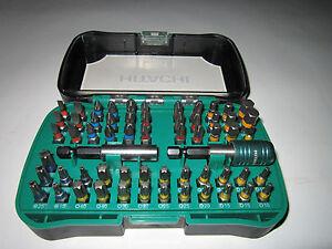 Hitachi-Bitsatz-Box-Set-60-tlg-PH-PZ-Torx-Schlitz-Inbus-mit-Bit-Halter