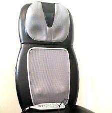 SBM 500H Shiatsu Back Shoulder Massage Chair Cushion Massager w Heat