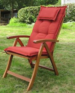 hochlehner luxus auflage kopfkissen polster gartenstuhl gartensessel auflagen ebay. Black Bedroom Furniture Sets. Home Design Ideas