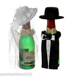 Hochzeitsdeko flaschendeko brautpaar edle dekoration for Edle dekoration