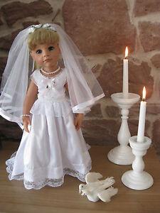 Hochzeitskleid-mit-Schleier-Puppenkleidung-50-cm-Steh-Puppe-ohne-Puppe ...