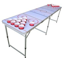Hockey Beer Pong Table Beirut With Pre Drilled Cup Holes Ebay