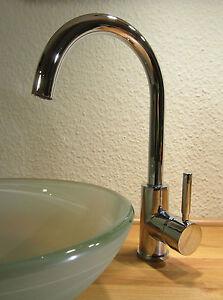 hohe waschtisch bad k che armatur f r aufsatz waschbecken einhebelmischer modern ebay. Black Bedroom Furniture Sets. Home Design Ideas