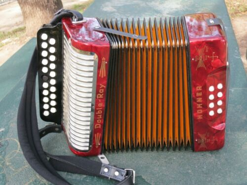 Hohner Double Ray B/C Irish Button Accordion - Made Germany 1960's - Near mint in Musical Instruments & Gear, Accordion & Concertina   eBay