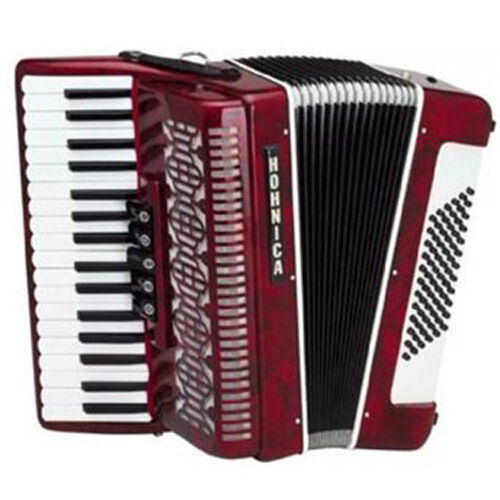Hohner Hohnica Tremolo Piano Accordion 72 Bass 34 Keys - Pearl Red in Musical Instruments & Gear, Accordion & Concertina | eBay