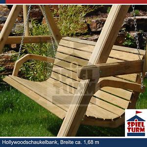 Hollywoodschaukel-aus-Holz-Gartenmoebel-Gartenbank-NEU