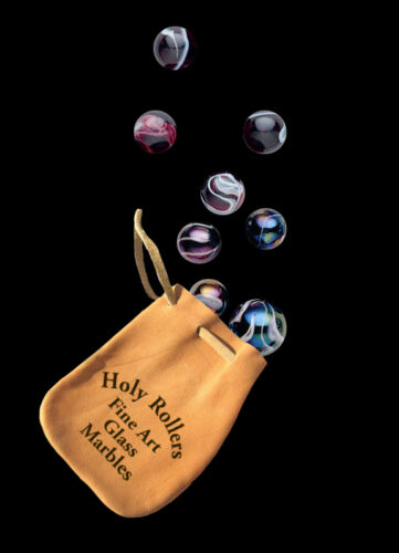 Holy Rollers Leather Bag of 10 beautiful Marbles from HOLY CITY, CALIFORNIA in Toys & Hobbies, Marbles, 1970-Now | eBay