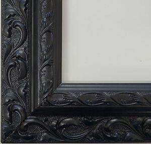 holz bilderrahmen rahmen basic line schwarz 40x40 oder 50x60 cm restposten ebay. Black Bedroom Furniture Sets. Home Design Ideas