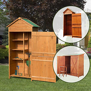 holz ger tehaus gartenhaus ger teschuppen gartenschrank ger teschrank 3 modelle ebay. Black Bedroom Furniture Sets. Home Design Ideas