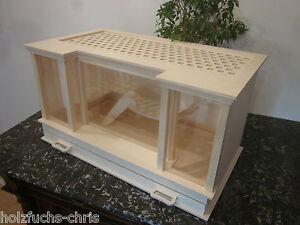 holz hamsterk fig m usek fig mit schublade rennm use k fig m use hamster nager ebay. Black Bedroom Furniture Sets. Home Design Ideas