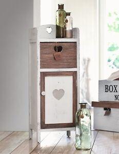 holz kommode holz schrank landhaus shabby braun wei. Black Bedroom Furniture Sets. Home Design Ideas