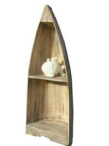 holz regal bootsregal badm bel boot maritim h 95cm antik. Black Bedroom Furniture Sets. Home Design Ideas
