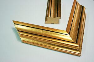 holzbilderrahmen gold f r keilrahmen 50x60 50x70 60x80. Black Bedroom Furniture Sets. Home Design Ideas