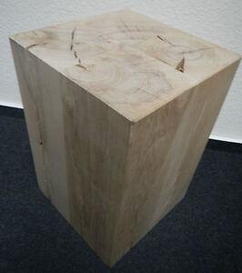 holzblock holzw rfel holzklotz hocker tisch ablage kubus massiv buche neu ebay. Black Bedroom Furniture Sets. Home Design Ideas