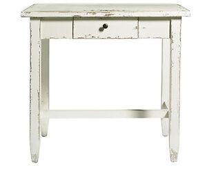 Holztisch-Tisch-Holz-Kueche-Konsole-Shabby-antik-finish-Creme