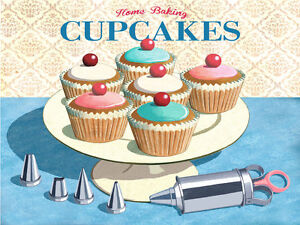 Home Baking Cupcakes Metal Sign Retro Kitchen Decor Vintage Decorating Tools Ebay