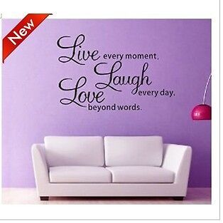 Home Decor Decal Wall Sticker Wall Quote Decals Live Laugh Love 002