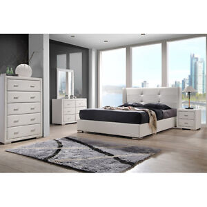 home decor furniture white king size 5 piece bedroom set leather wood
