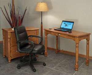 Home Office Computer Desk Solid Oak Country Style | eBay