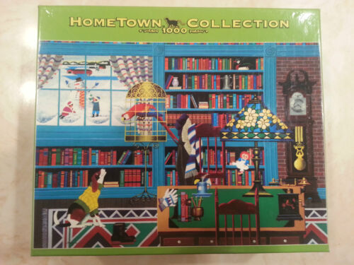"Hometown Collection 1000 Piece Jigsaw Puzzle ""Library"" Heronim MEGA in Toys & Hobbies, Puzzles, 1970-Now 