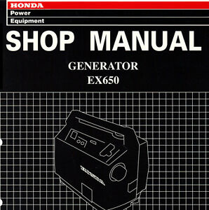 honda   generator service repair shop manual  popscreen