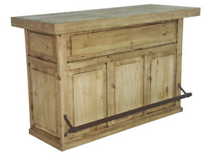 Honey Rustic Home Bar Solid Pine Free Shipping Man Cave Western Game Ebay